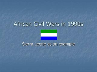 African Civil Wars in 1990s