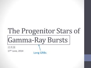 The Progenitor Stars of Gamma-Ray Bursts