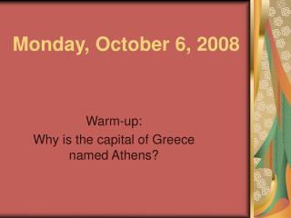 Monday, October 6, 2008