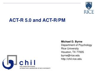 ACT-R 5.0 and ACT-R/PM