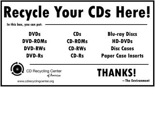 Recycle Your CDs Here!