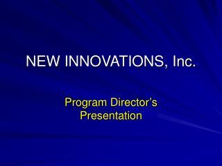 NEW INNOVATIONS, Inc.