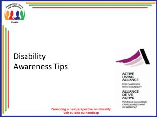 Disability  Awareness Tips