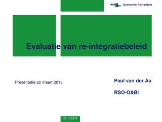 Evaluatie van re-integratiebeleid