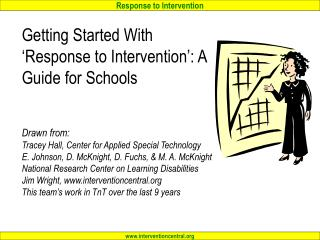 What is 'Response to Intervention' (RTI)?