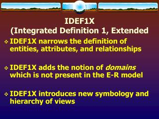 IDEF1X  (Integrated Definition 1, Extended
