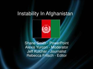 Instability In Afghanistan