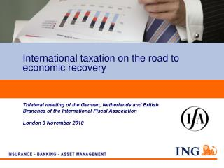 International taxation on the road to economic recovery