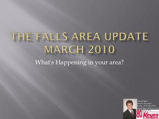 The Falls area  Update March 2010