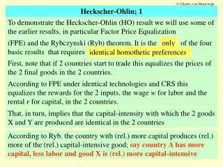 Heckscher-Ohlin; 1