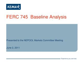 FERC 745  Baseline Analysis