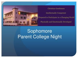 Sophomore  Parent College Night