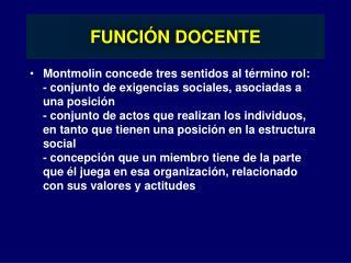 FUNCIÓN DOCENTE