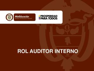 ROL AUDITOR INTERNO