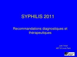 SYPHILIS 2011