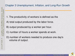 Chapter 3 Unemployment, Inflation, and Long-Run Growth