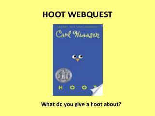 HOOT WEBQUEST