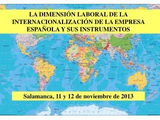 Salamanca, 11 y 12 de noviembre de 2013