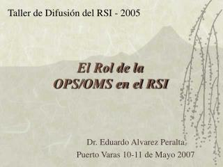 El Rol de la OPS/OMS en el RSI