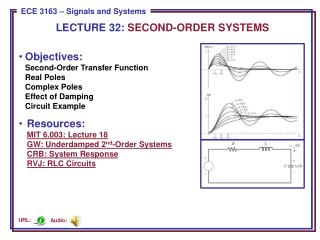 LECTURE  32:  SECOND-ORDER SYSTEMS