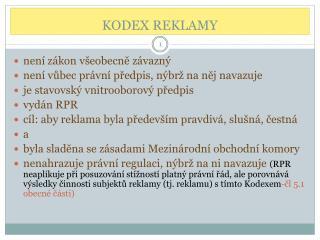 KODEX REKLAMY