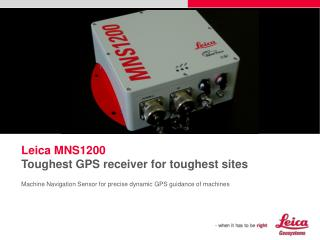Machine Navigation Sensor for precise dynamic GPS guidance of machines