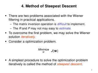4. Method of Steepest Descent