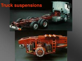 Truck suspensions