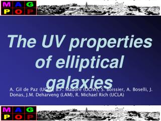 The UV properties of elliptical galaxies
