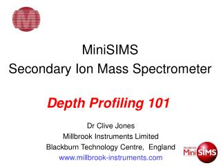 MiniSIMS    Secondary Ion Mass Spectrometer