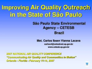 Improving  Air Quality Outreach in the State of São Paulo