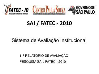 SAI / FATEC -  2010