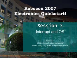 Robocon 2007 Electronics Quickstart!