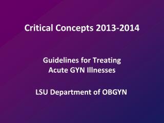 Critical Concepts 2013-2014