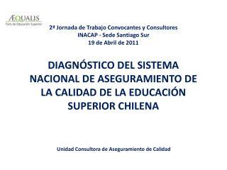 DIAGNÓSTICO DEL SISTEMA NACIONAL DE ASEGURAMIENTO DE LA CALIDAD DE LA EDUCACIÓN SUPERIOR  CHILENA