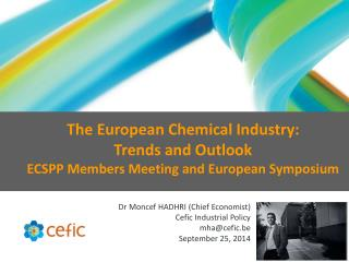 Dr Moncef  HADHRI (Chief  Economist) Cefic Industrial Policy mha@cefic.be September 25, 2014