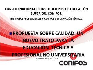 CONSEJO NACIONAL DE INSTITUCIONES DE EDUCACI�N SUPERIOR, CONIFOS.