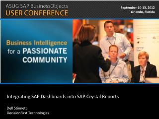 Integrating SAP Dashboards into SAP Crystal Reports