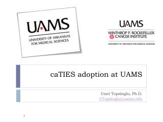 CaTIES adoption at UAMS