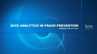 Data analytics in fraud prevention