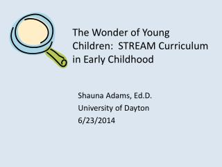 The Wonder of Young Children:  STREAM Curriculum in Early Childhood