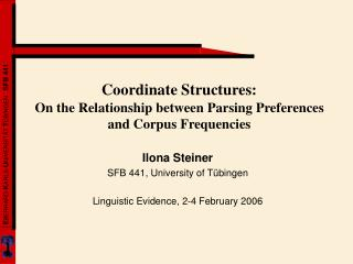 Coordinate Structures: On the Relationship between Parsing Preferences and Corpus Frequencies