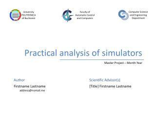 Practical analysis of simulators