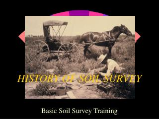 HISTORY OF SOIL SURVEY