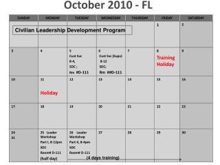 October 2010 - FL
