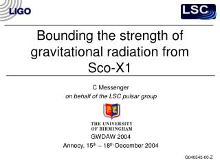 Bounding the strength of gravitational radiation from Sco-X1