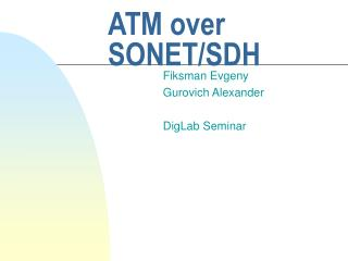 ATM over SONET/SDH