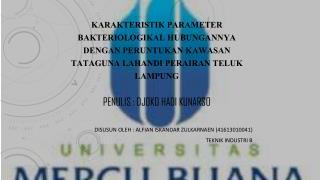 Disusun oleh  : Alfian Iskandar  zulkarnaen  (41613010041) Teknik Industri  B