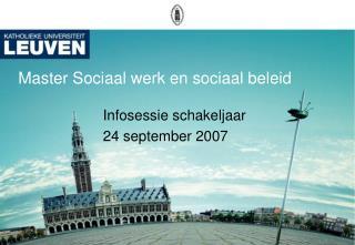 Master Sociaal werk en sociaal beleid