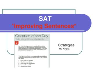 SAT * Improving Sentences*